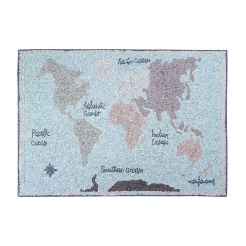 Alfombra Lavable Vintage Map Lorena Canals